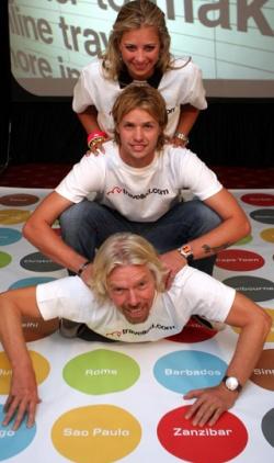 Sir Richard Branson és gyermekei, Holly és Sam