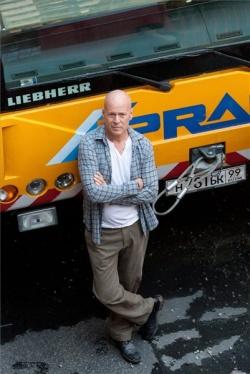 Bruce Willis budapesti forgatása közben