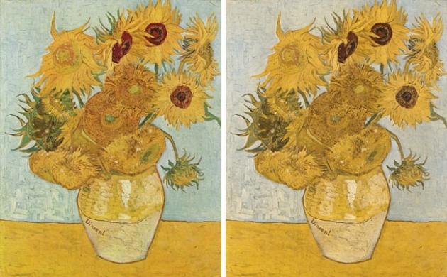 A híres Napraforgók is másként fest
