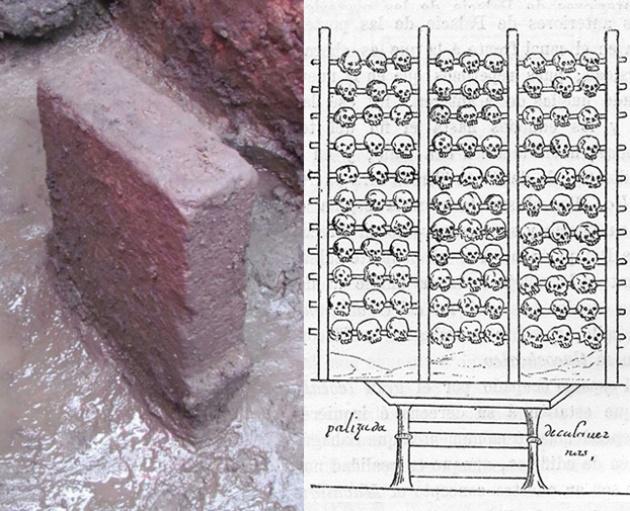 A kőoltár és a koponyaállvány