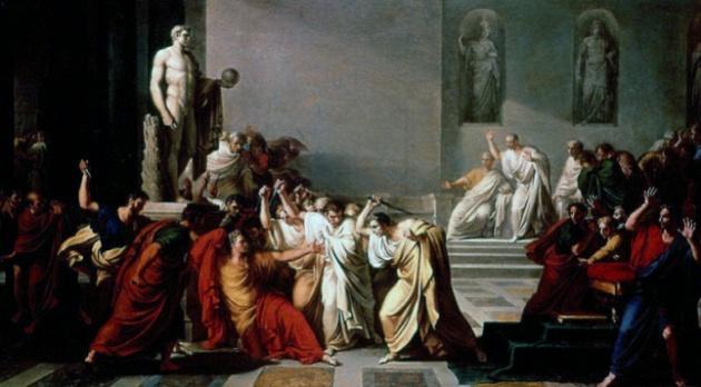 Vincenzo Camuccini: Cézár halála (1798)