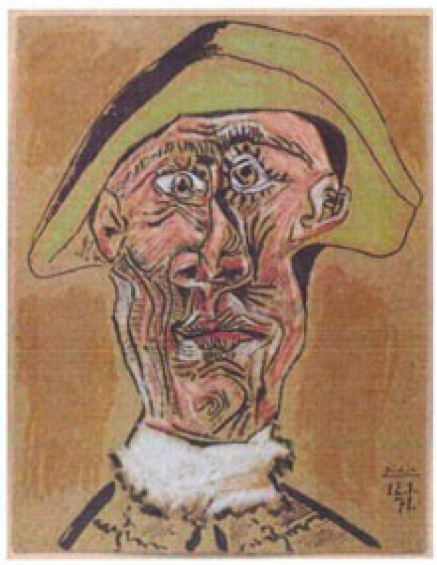 Picasso: Tete d'Arlequin