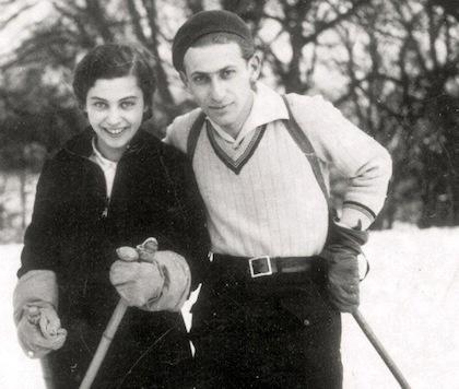 Közkedvelt pár a sípályán: Gyarmati Fanni és Radnóti Miklós