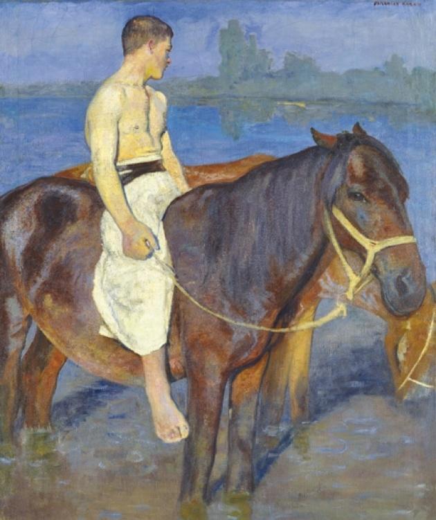 Ferenczy Károly: Lovak a vízben ( fotó: viragjuditgaleria.hu)