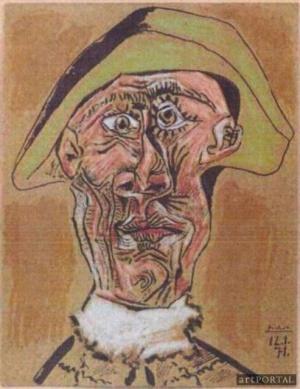 Picasso: Tete D'arlequin  (fotó: artportal.hu)