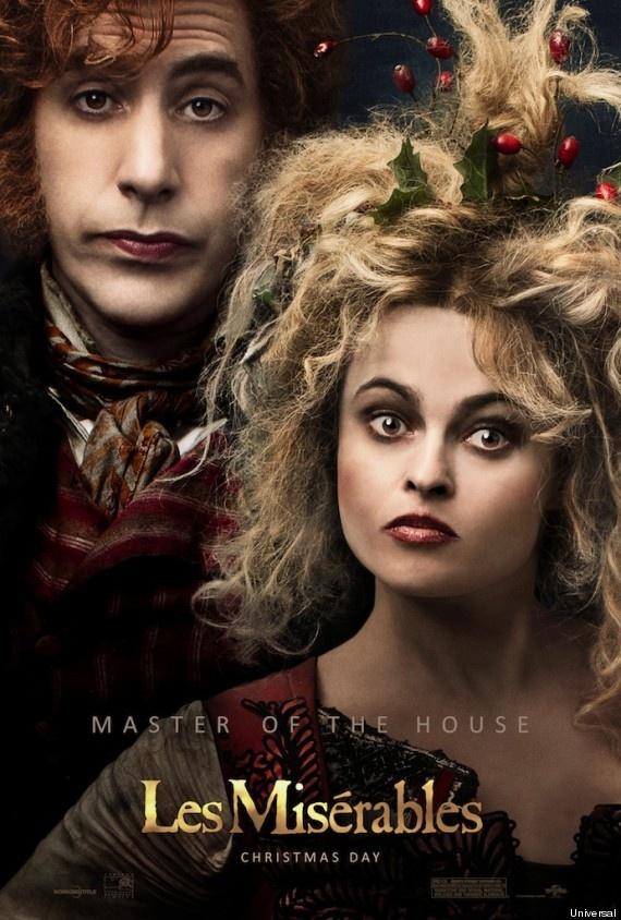 Thénardier-ék: Sacha Baron Cohen és Helena Bonham Carter (Fotó: Huffington Post)