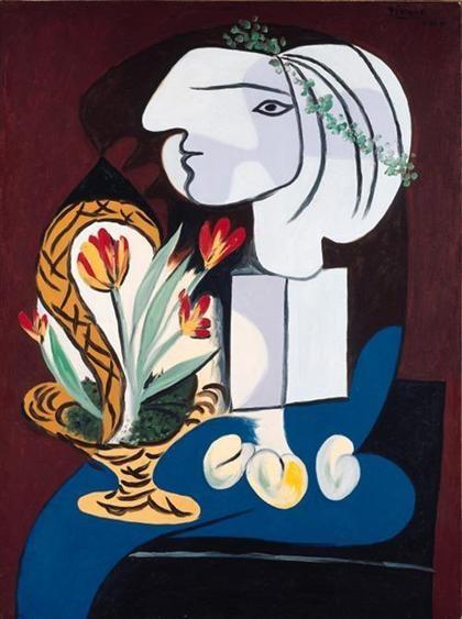 Picasso: Csendélet tulipánokkal (1932)
