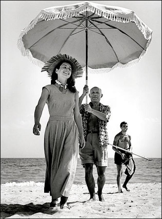 Francoise Gilot és Picasso (Robert Capa, 1948)