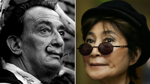 Salvador Dalí és Yoko Ono (Fotó: Veja)