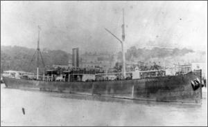 Korabeli kép a hajóról