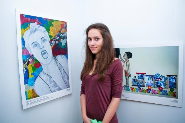 Bicsák Boglárka a szombathelyi Művészeti Szakközépiskola diákja.