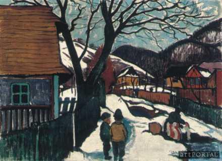 Ziffer Sándor: Tél Nagybányán (fotó: artportal.hu)