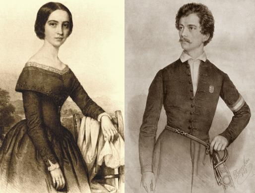 Szendrey Júlia és Petőfi (Fotó: helyitema.hu)