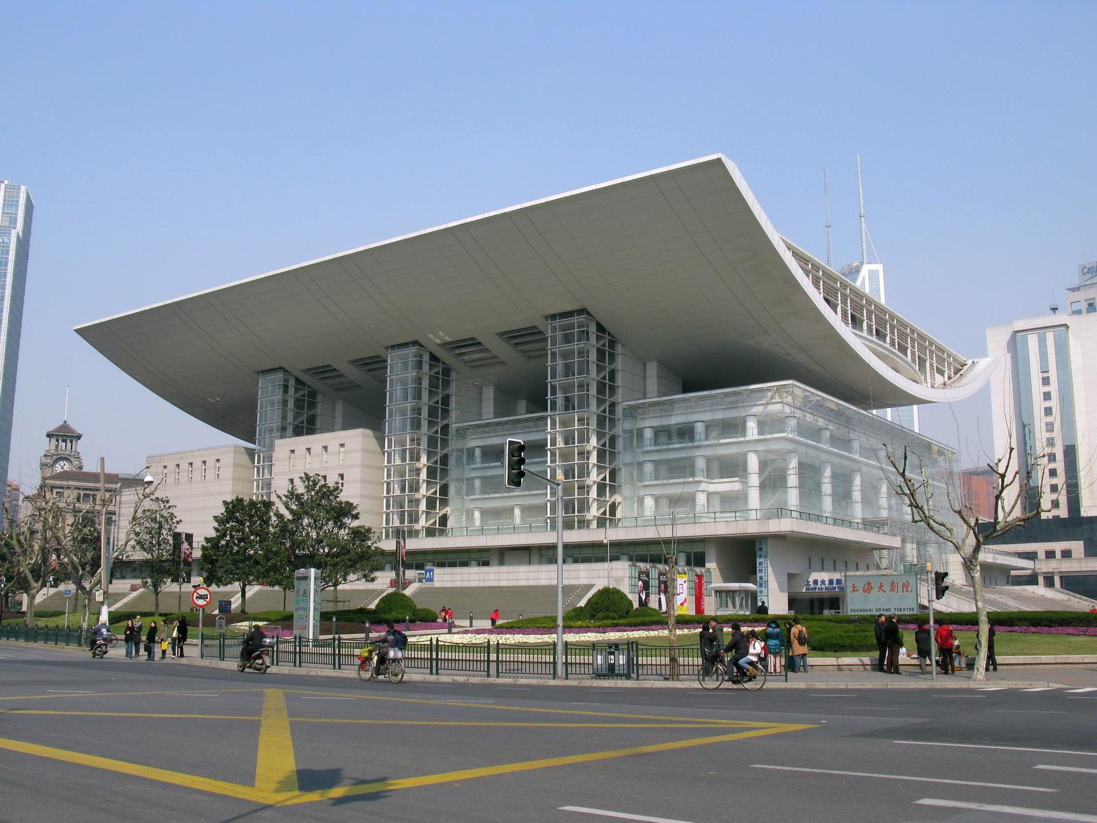 A Sanghaji Nagyszínház (Fotó: shanghaibanelni.blog.hu)