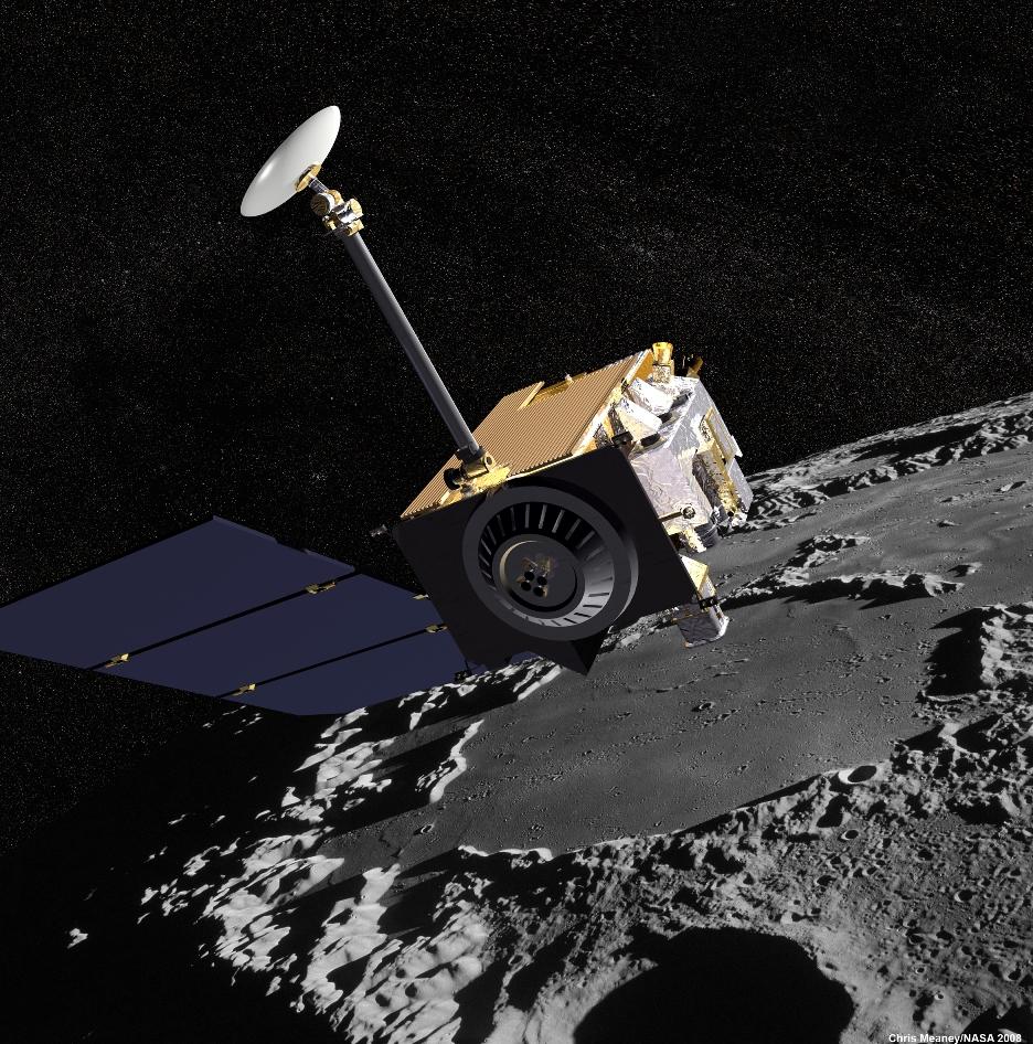 Az LRO űrszondáról készült illusztráció (NASA)