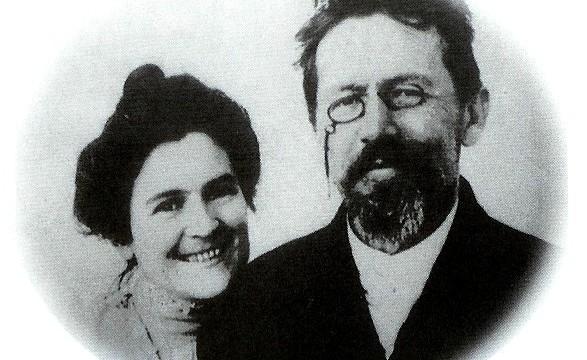 Csehov feleségével, Olga Knipperrel