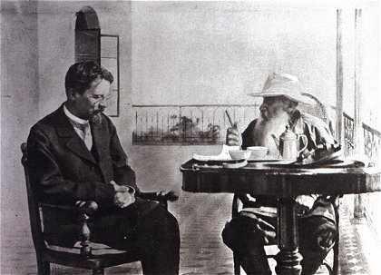Csehov és Lev Tolsztoj