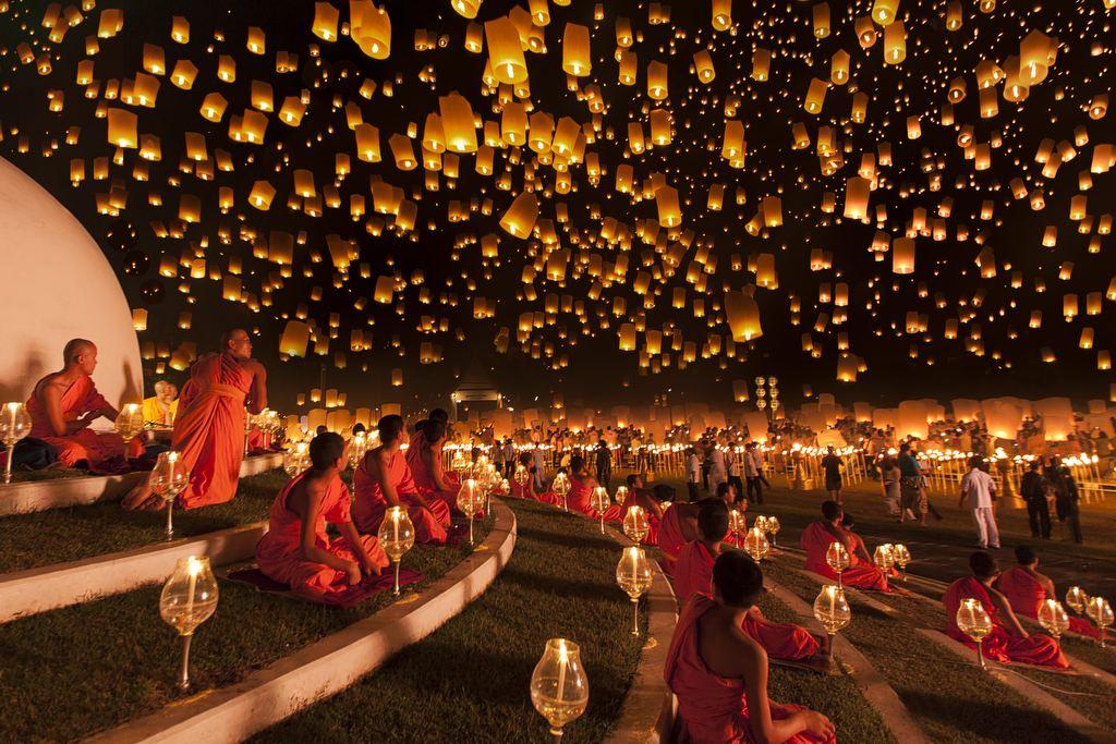 Yi Peng lámpásfesztivál (Fotó: Ng Chai Hock)