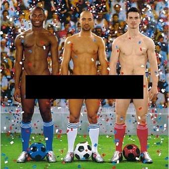 A cenzúrázott plakát (Pierre&Gilles: Vive la France)