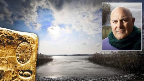A kincs, a tó és a kincsvadász Yaron Svoray (Fotó: explorerworld.hu)