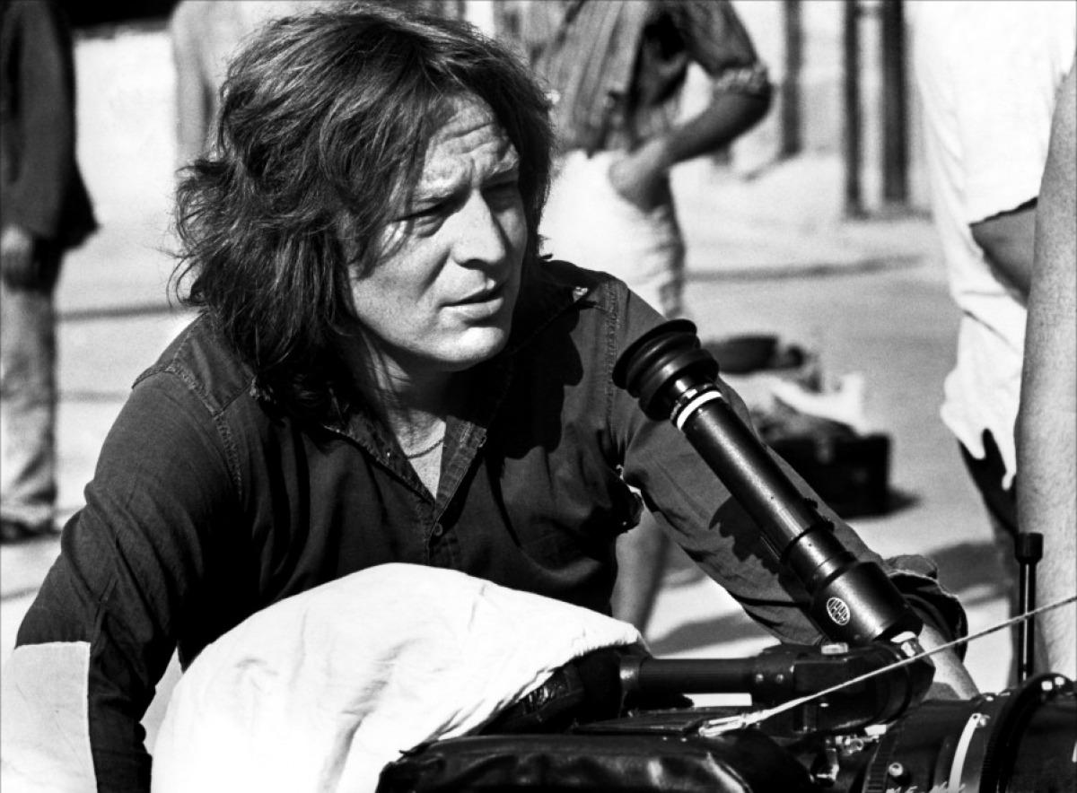 Alan Parker az Éjféli expressz forgatásán (Fotó: toutlecine.com)