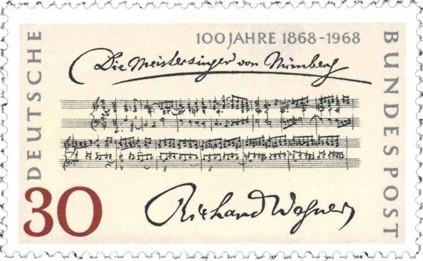 A nürnbergi mesterdalnokok - évfordulós Wagner-bélyeg