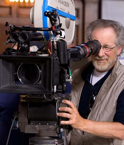 Spielberg a forgatáson (Fotó: thecinemasource.com)