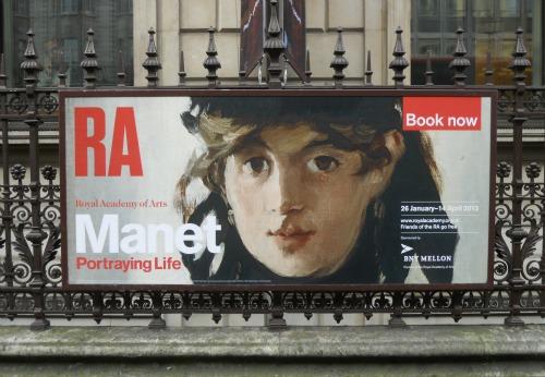 A londoni Manet-kiállítás plakátja (Fotó: londonperfect.com)