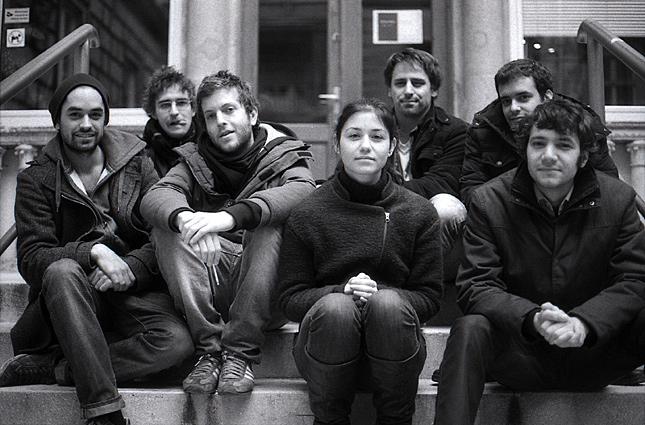 A Nekem Budapest alkotói: Szimler Bálint, Ferenczik Áron, Bálint Dániel, Kapronczai Erika, Reisz Gábor, Kárpáti György Mór, Szeiler Péter (Forrás: Origo)