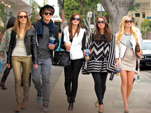 A Bling Ring csapata - középen Emma Watson (Fotó: crushable.com)