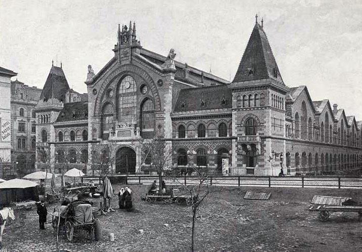 A Vásárcsarnok régen (Fotó: budapestcity.org)