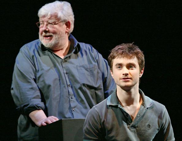 Richard Griffiths és Daniel Radcliffe az Equus próbáján (Fotó: zimbio.com)