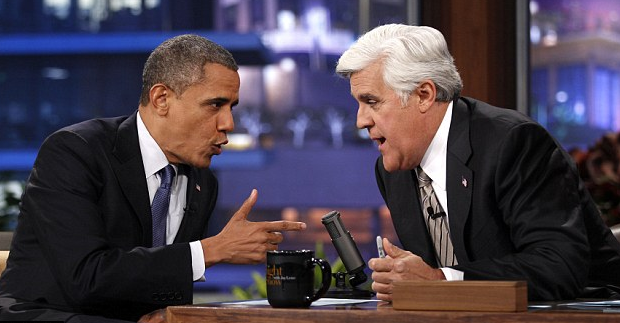 Barack Obama a Tonight Show-ban (Fotó: kulturekritic.com)