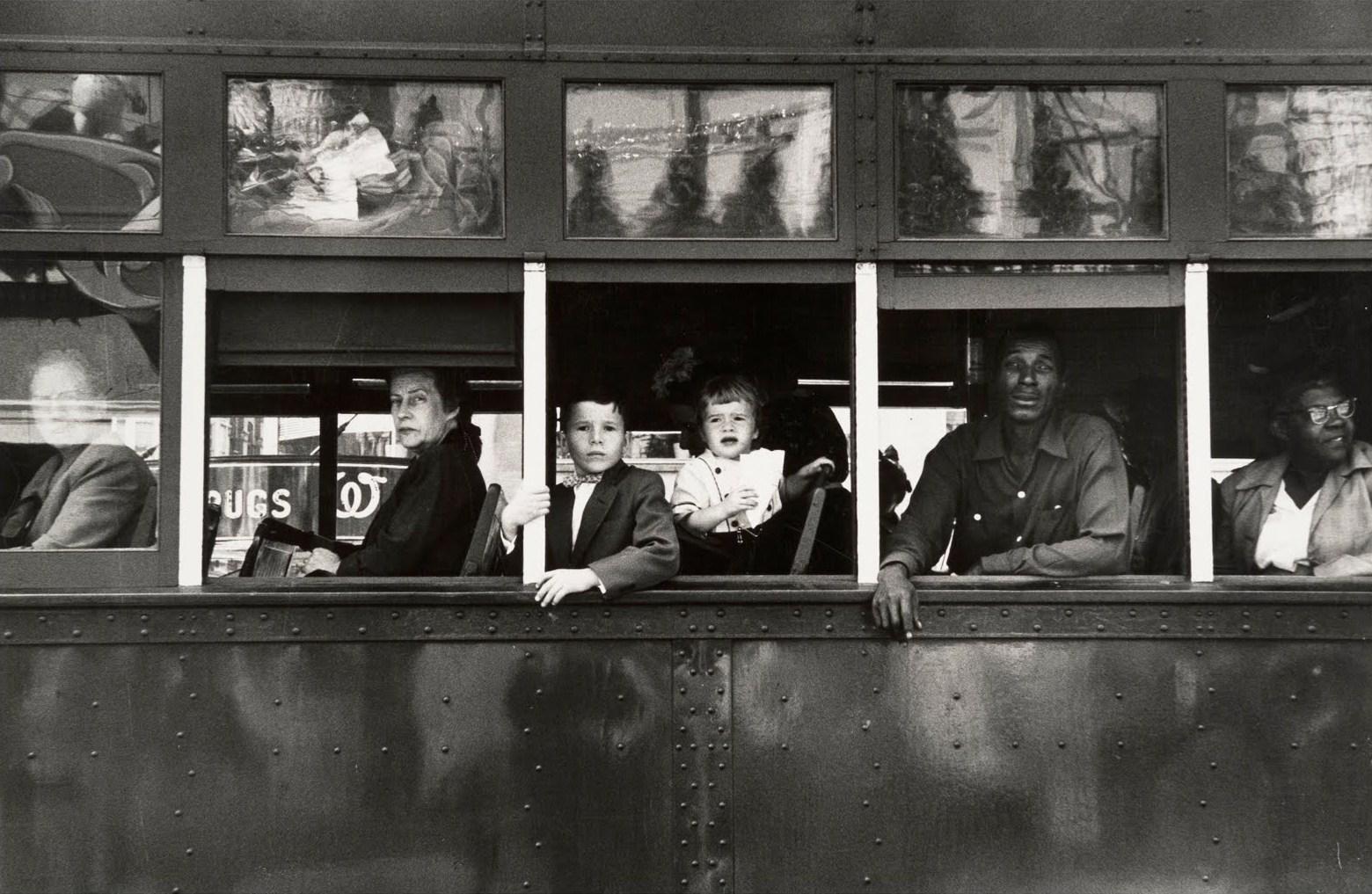 Robert Frank: Trolley - New Orleans, 1955