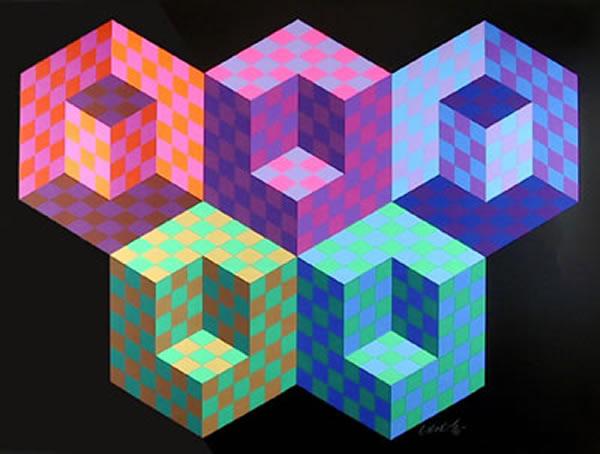 Victor Vasarely: Hexa 5