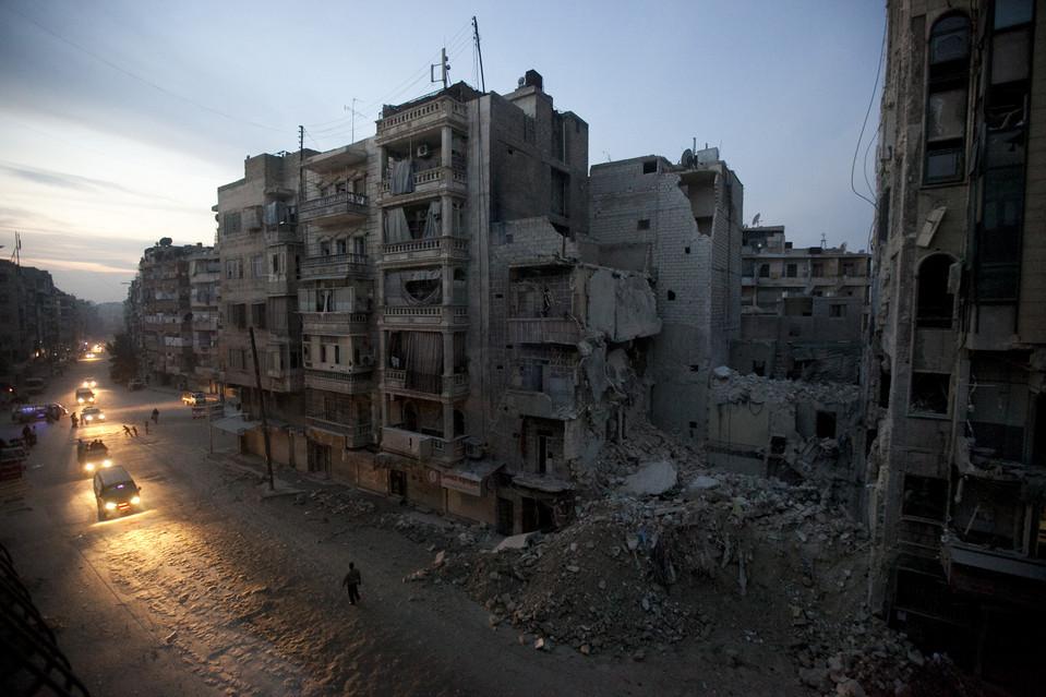 Aleppo városa Szíriában (Fotó: Narciso Contreras/Associated Press, blogs.wsj.com)
