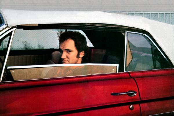 Quentin Tarantino, a rendező a híres Chevroletben
