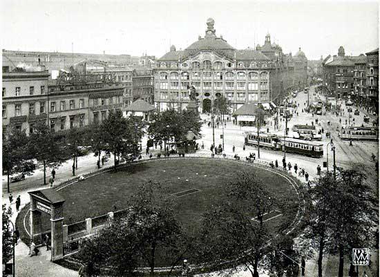 Az Alexanderplatz 1920-ban (Fotó: preussen-chronik.de)