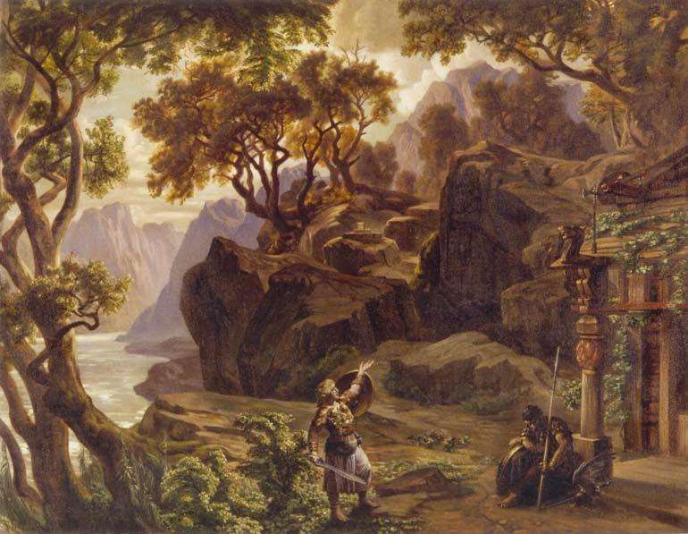 Joseph Hoffmann képe Wagner Az istenek alkonya című operája alapján (Fotó: commons.wikimedia.org)