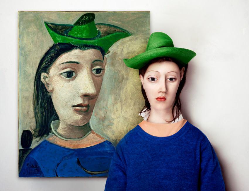 Pablo Picasso: Nő zöld kalappal, 1939 (Fotó: Borsi Flóra)