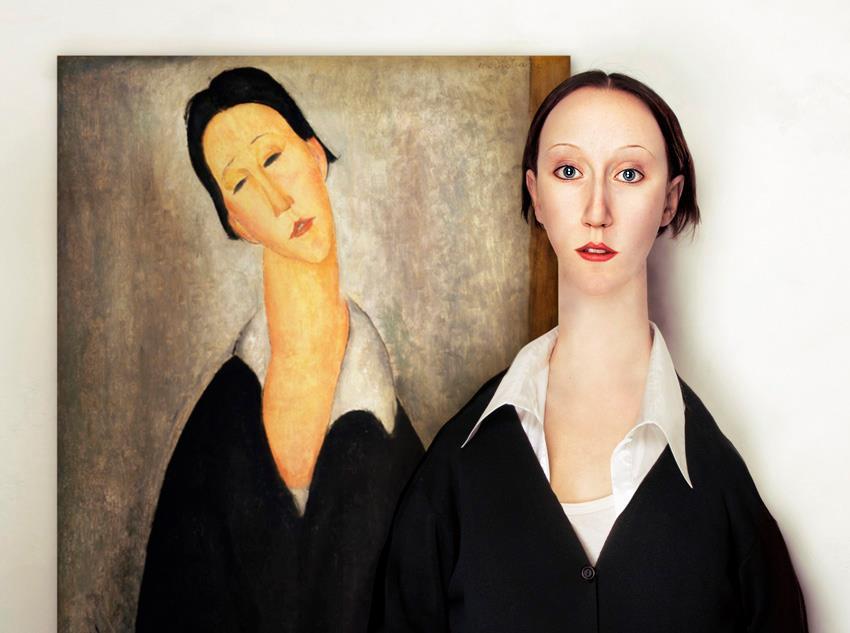 Amedeo Modigliani: Portré egy lengyel nőről, 1919 (Fotó: Borsi Flóra)