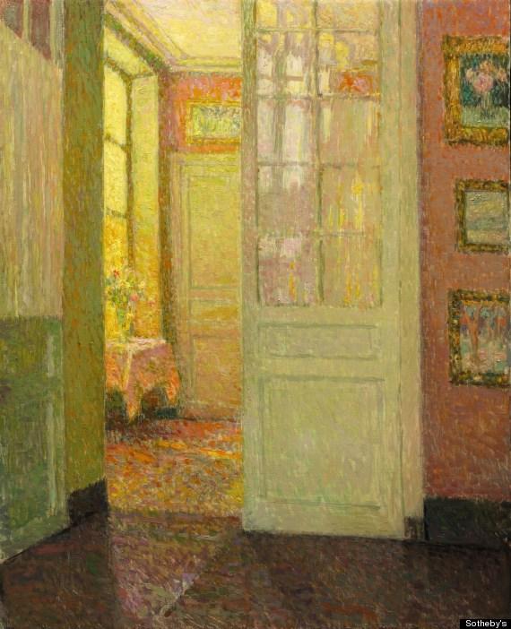 Henri Le Sidaner: Szobabelső - fények az ablakból (Fotó: huffingtonpost.com)