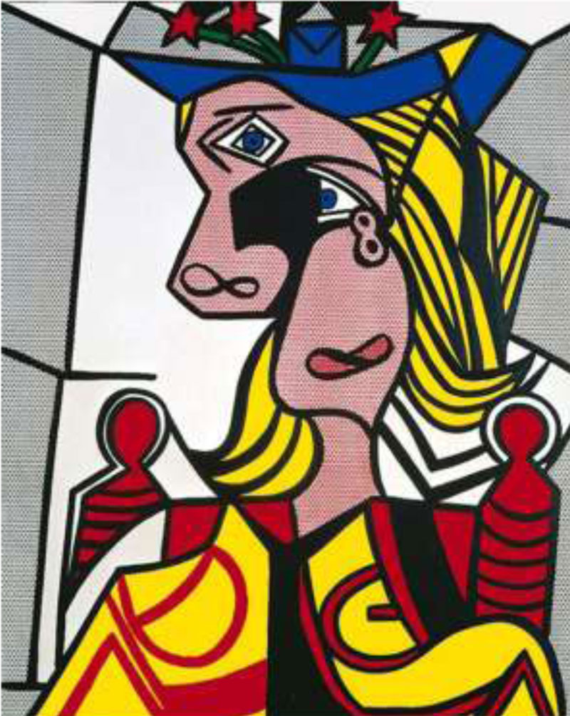 Roy Lichtenstein: Nő virágos kalappal (Fotó: extravaganzi.com)