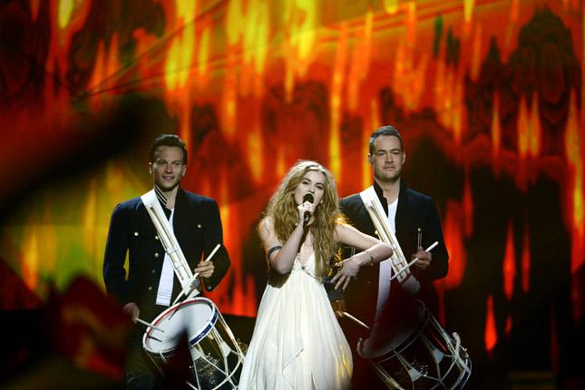 Emmelie de Forest, a győztes dán énekesnő (Fotó: eurovizios-dalfesztival.blogspot.hu)