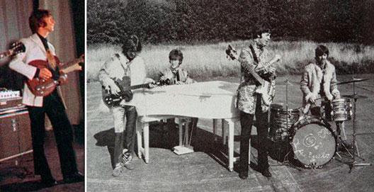 A legendás Beatles-gitár használat közben (Fotó: luxedb.com)