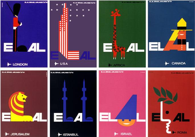 Az El Al légitársaságnak készített sorozat darabjai