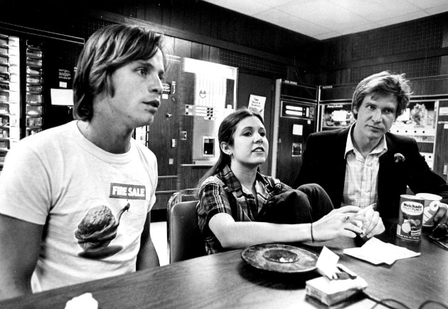 Mark Hamill, Carrie Fisher és Harrison Ford - Star Wars (1977)