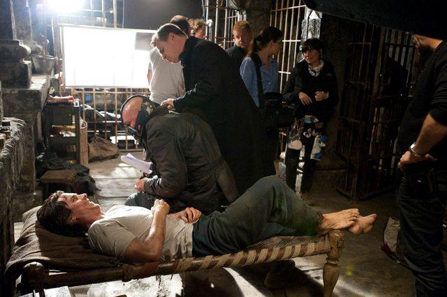 Christian Bale, Tom Hardy és Christopher Nolan - A sötét lovag (2012)