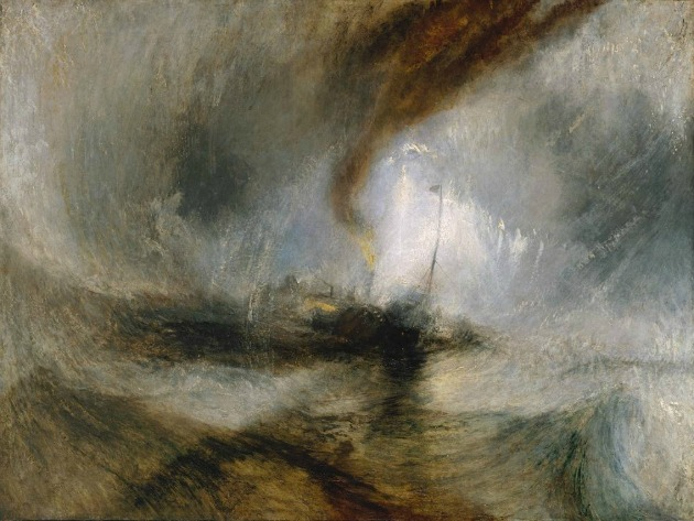 Joseph Mallord William Turner: Hóvihar - Gőzhajóval a nyílt vízen