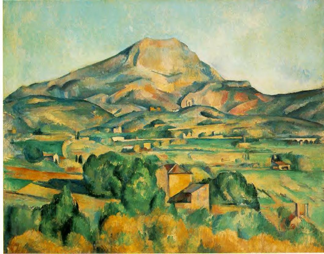 Cézanne: a Saint Victoire-hegy (1888-89) /fotó:wikimedia/